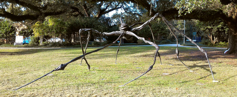 Louise Bourgoise bronze spider sculpture, New Orleans Museum of Art ...