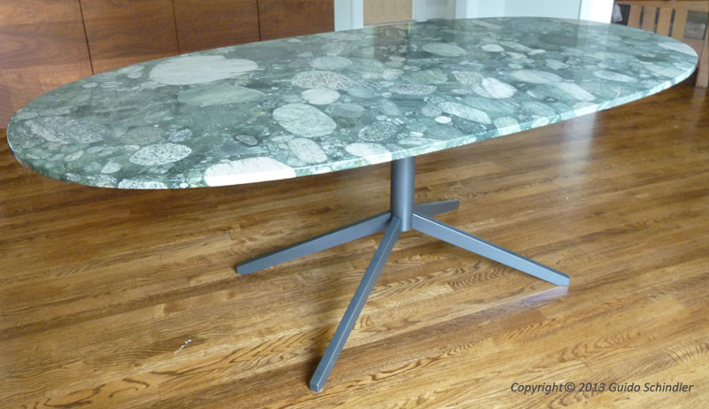 Metal Table Base For Granite Top