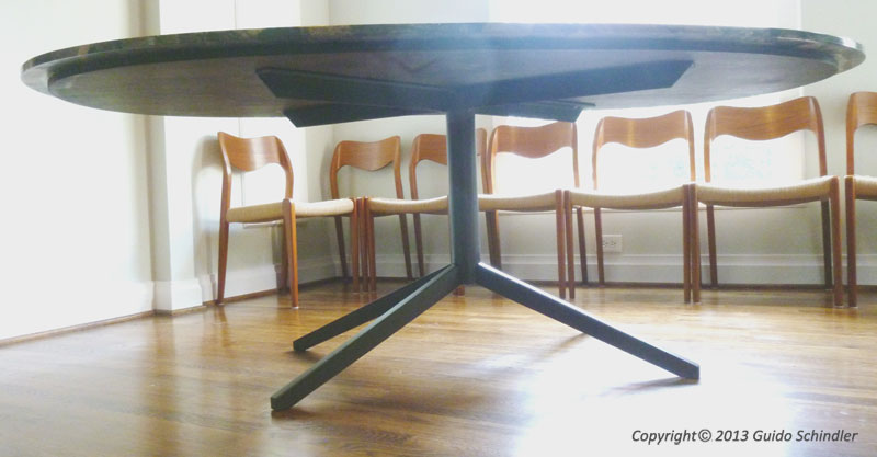 Pedestal Steel Table Base 5