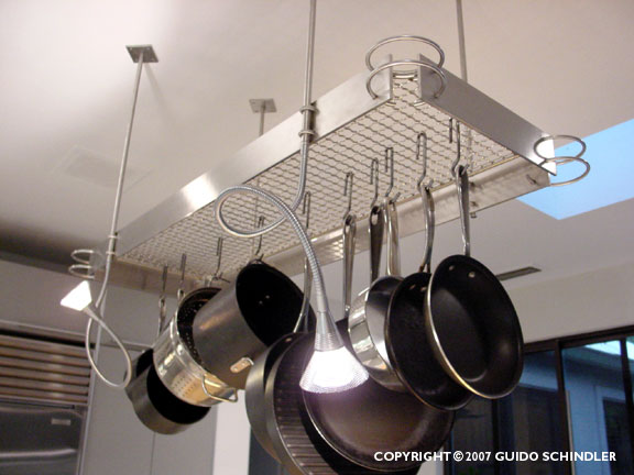 Stainless Steel Pot Rack for Bulthaup Kitchen