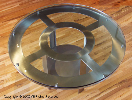 ... Round Stainless Table Base ...